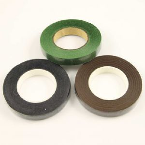 Florist tape, Paper, black, brown, green, 29m x 1.2cm, 3 pieces, [FT38]